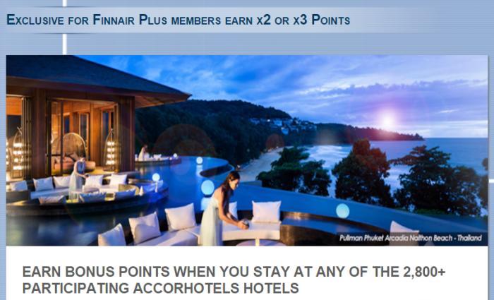 Le Club AccorHotels Finnair Plus Double & Triple Points