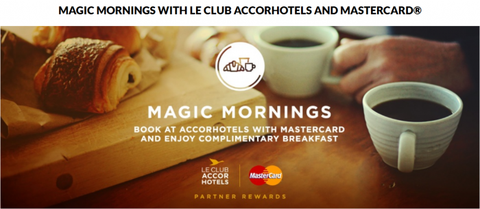 Le Club AccorHotels MasterCard Asia-Pacific Free Breakfast Promo