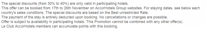 Le Club AccorHotels November 2015 Private Sales France Terms