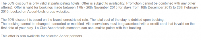 Le Club AccorHotels November 2015 Private Sales UK & Ireland Terms