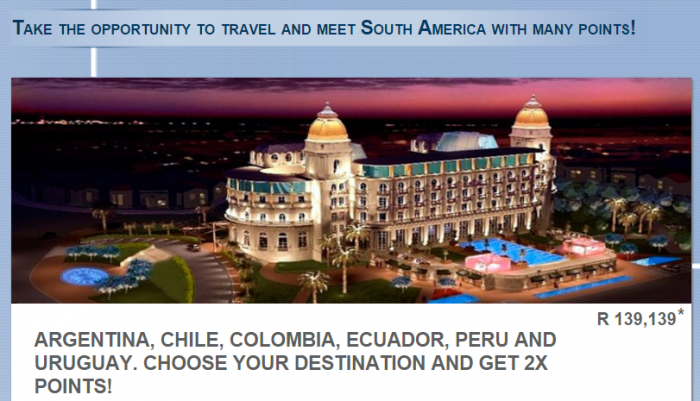 Le Club AccorHotels South America Double Points November 1 - December 31 2015