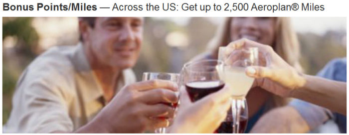 Marriott Rewards US Up To 2500 Bonus Aeroplan Miles Per Stay November 2 - January 25 2016