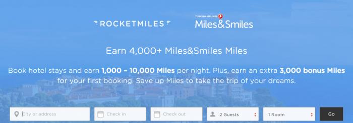 Rocketmiles Turkish Airlines 3,000 Bonus Miles&Smiles December 31 2015