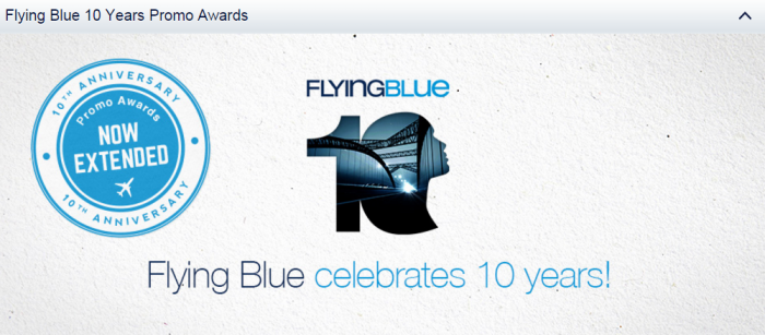 Air France-KLM Flying Blue Promo Awards Extended