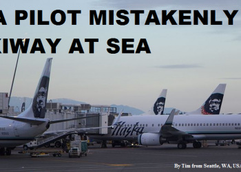 Alaska Airlines Pilot Lands On Taxiway