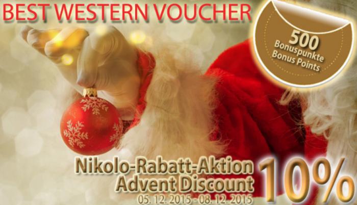 Best Western Rewards Travel Card 10 Percent Discount December 5 - 8 2015