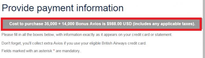 British Airways Buy Avios 40 Percent Bonus Price