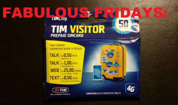 Fabulous Fridays TIM Visitor Sim Card For Brazil