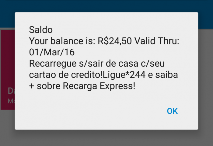 Faubous Fridays TIM Visitor Sim Card For Brazil Saldo