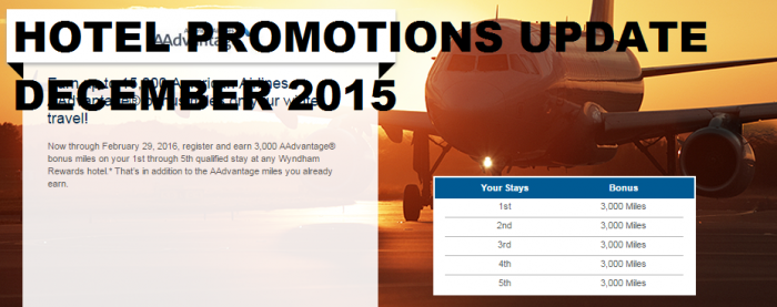 Hotel Promotions Update December 2015