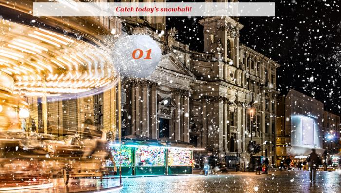 IHG Rewards Club Europe Advent Calendar Snowball