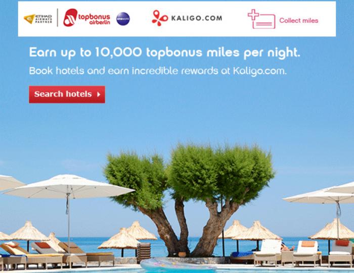 Kaligo Airberlin Topbonus Launch Offer January 31 2016