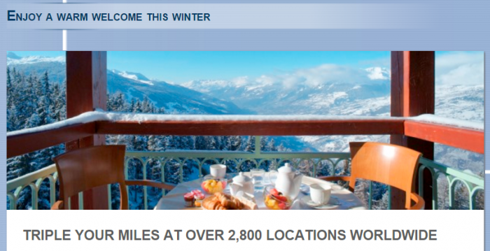 Le Club AccorHotels AIr France-KLM Triple Flying Blue Miles January 4 - February 14 2016