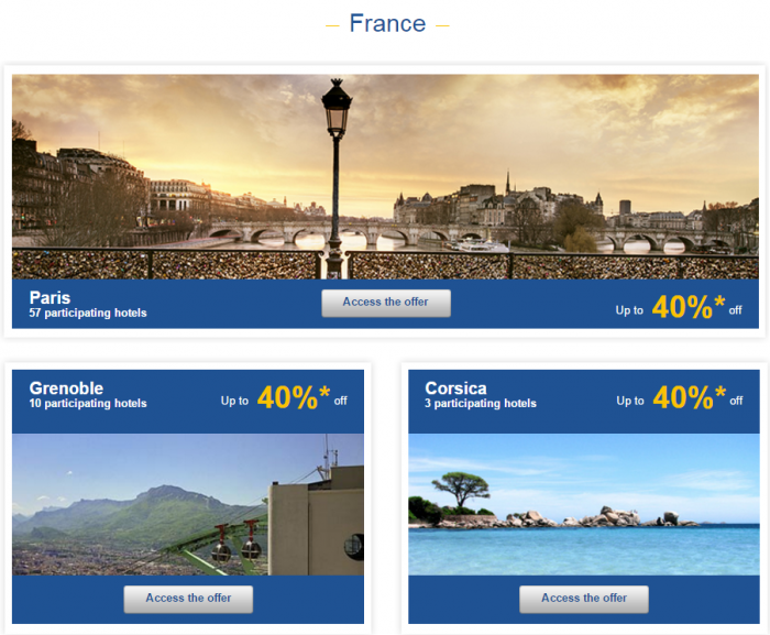 Le Club AccorHotels Europe Private Sales December 10 France 1