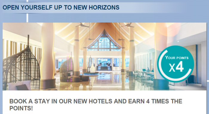 Le Club AccorHotels Quadruple Miles Select New Hotels December 1 - January 31 2016