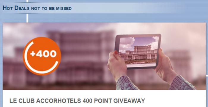 Le Club AccorHotels Romania 400 Bonus Points December 11 - February 29 2016
