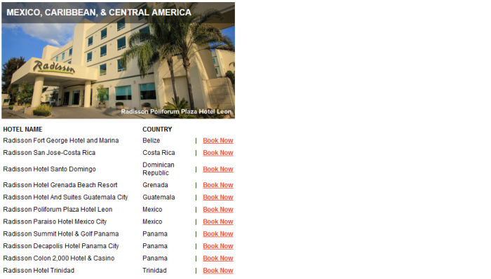 Club Carlson Mega Points December 31 2016 Properties 4