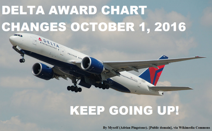 Delta Air Lines SkyMiles Award Chart Changes Effective October 1 2016