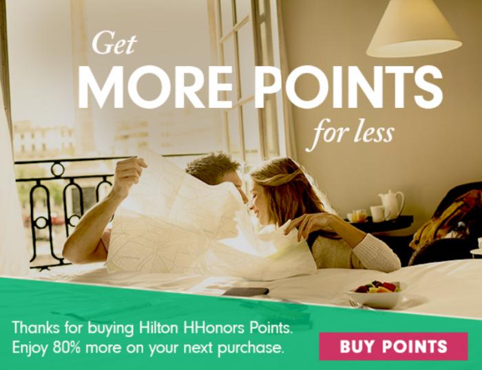 Hilton HHonors Buy Points Up To 80% Bonus January 2016