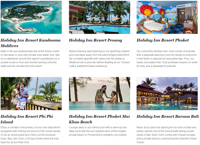IHG Rewards Club Holiday Inn Resort Asia 35 Percent Off Sale Say By April 26 2016 (Book By February 7) 1