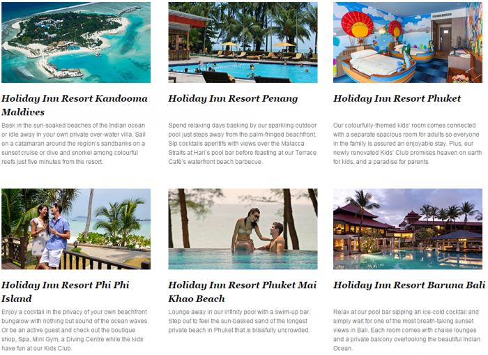 IHG Rewards Club Holiday Inn Resort Asia 35 Percent Off Sale Say By April 26 2016 (Book By February 7) 1