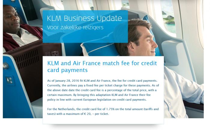 KLM Credit Card Fees