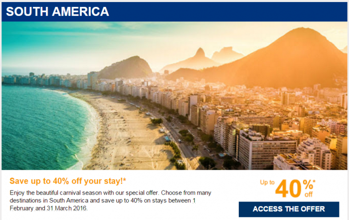 Le Club AccorHotels January 2016 Private Sales South America