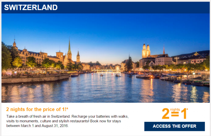 Le Club AccorHotels January 2016 Private Sales Switzerland