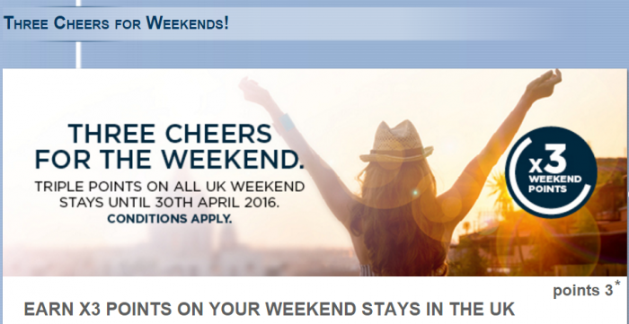 Le Club AccorHotels UK Triple Points January 28 - April 30 2016
