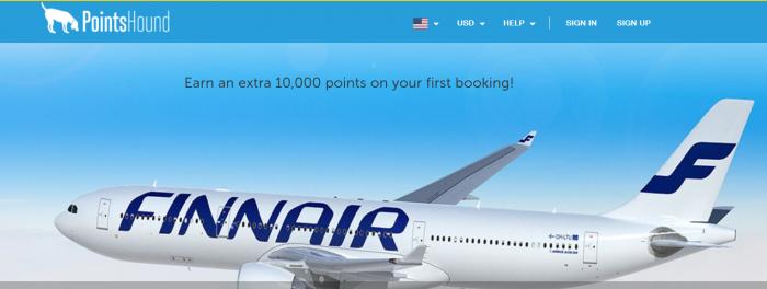 PointsHound Finnair Plus 10000 Points First Purchase