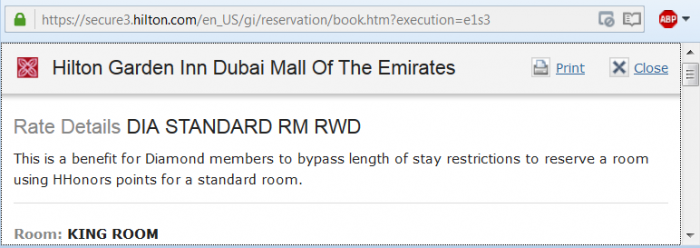 Reader Question Hilton HHonors Hilton Garden Inn Mall of Emirates Diamond Availability Rate Rules
