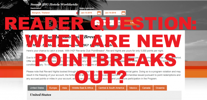 Reader Question PointBreaks