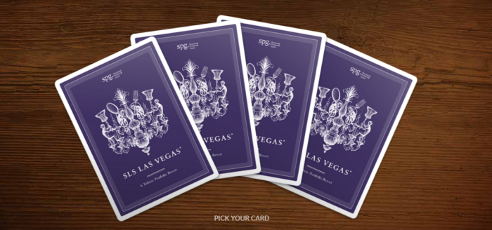 SPG SLS Tribute Las Vegas Pick Your Card