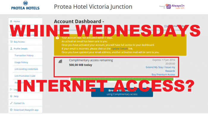 Whine Wednesdays Protea Hotels Waterfront  Dashboard
