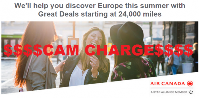 Air Canada Aeroplan Europe Summer 2016 Promo
