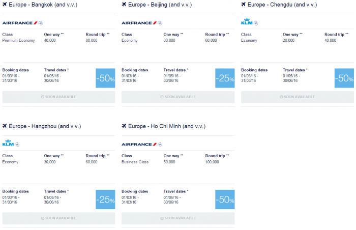 Air France-KLM Flying Blue Promo Awards May 1 - June 30 2016 Asia Pacific 1