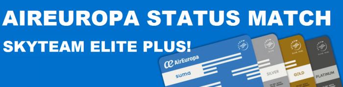 AirEuropa SUMA Status Match