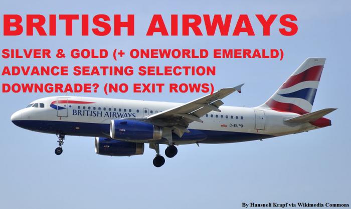 BA Silver & Gold Exit Row Benefit Downgrade