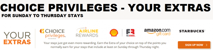 Choice Hotels Choice Privileges Your Extras