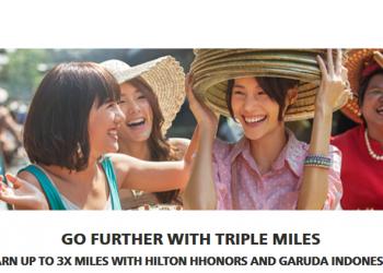 Hilton HHonors Garuda Indonesia Up To Triple GarudaMiles February 1 - April 30, 2016