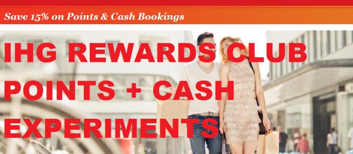 IHG Rewards Club Points + Cash Experiment U