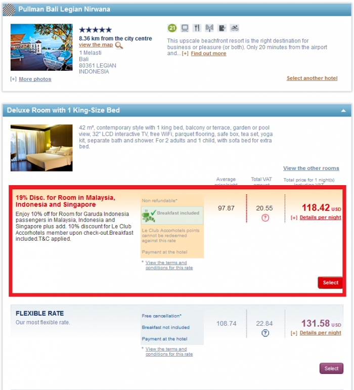 Le Club AccorHotels Garuda Indonesia 19 Percent Off Sale December 31 2016 Pullman 1