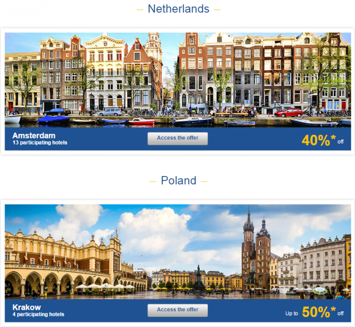 Le Club AccorHotels Weekly Up To 50 Percent Off Europe Private Sales February 23 - 28 Netherlands & Poland