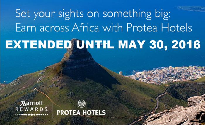 Marriott Rewards Protea 2,000 Bonus Points Per Stay November 17 - May 31 2016