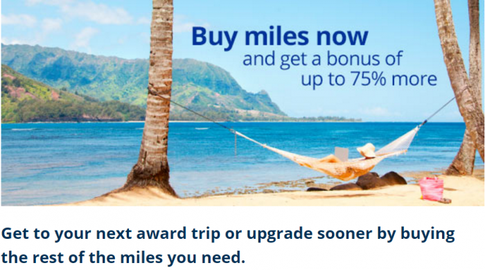 United Airlines MileagePlus Buy Miles Promotion