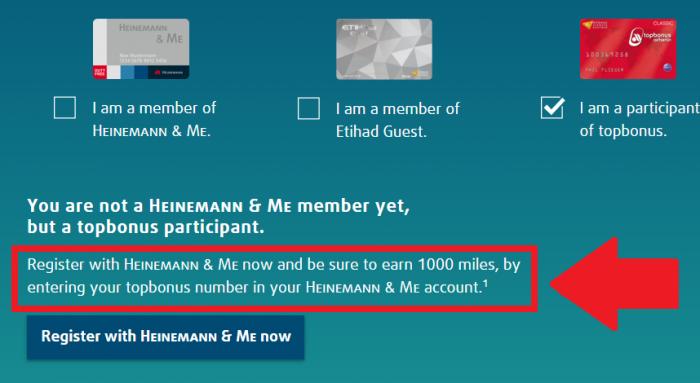 Heinemann Etihad Guest Airberlin Topbonus 1K AB