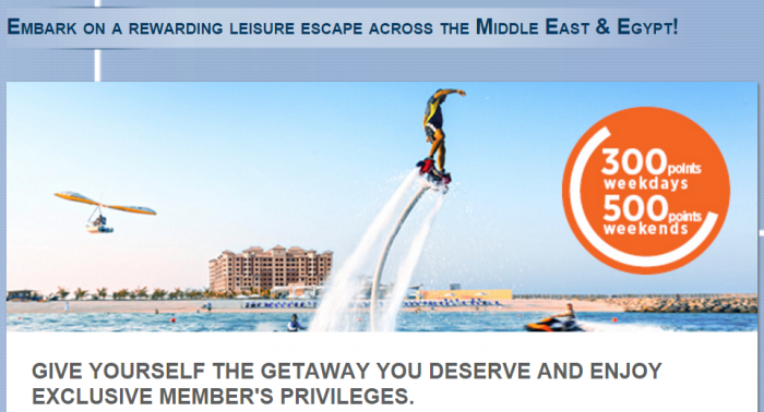 Le Club AcccorHotels Middle East & Egyp 300 To 500 Bonus Points Per Stay March 1 - April 30 2016