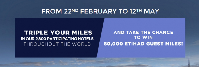 Le Club AccorHotels Etihad Airways Guest Triple Miles February 22 - May 12 2016
