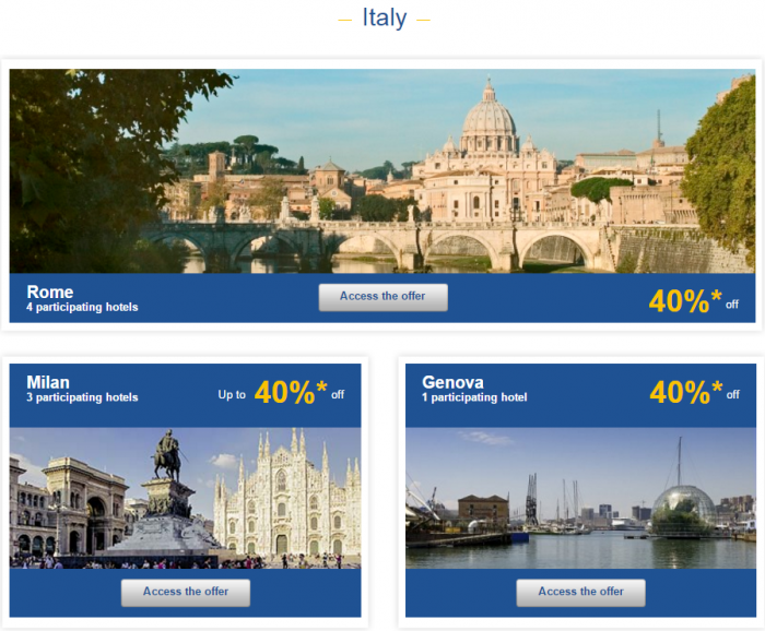Le Club AccorHotels Weekly Private Sales March 15 - 21 2016 Italy 1