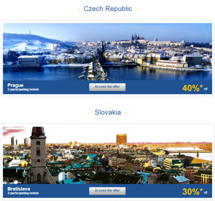 Le Club AccorHotels Weekly Private Sales March 22 - 28 2016 Czech Republic & Slovakia